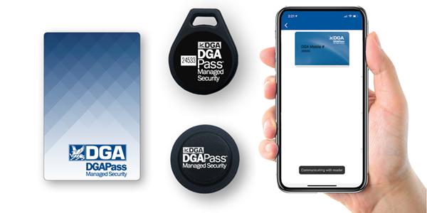 DGAPass Access Control Credential Options